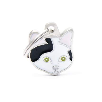 Адресник для кошек My Family Friends Кошка (2,5 х 2,5 см, Черно-белый)