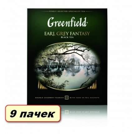 Чай черный в пакетиках для чашки Greenfield Earl Grey Fantasy коробка 9 шт по 200 г