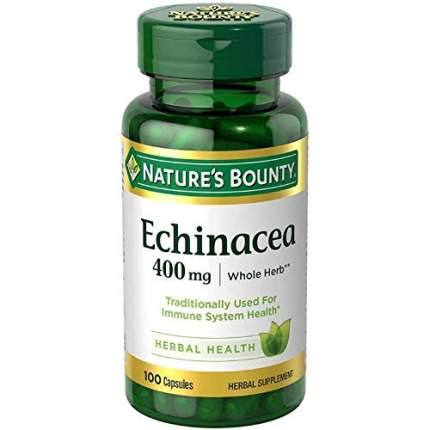 Натуральная эхинацея Nature's Bounty 400 мг 100 капсул