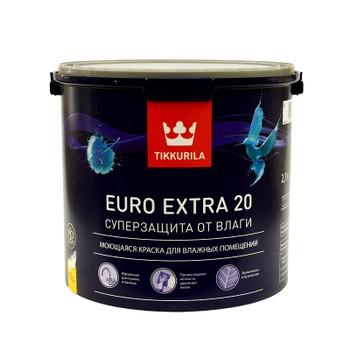 Краска Tikkurila Euro Extra 20 для кухни и ванной комнаты 2.7л