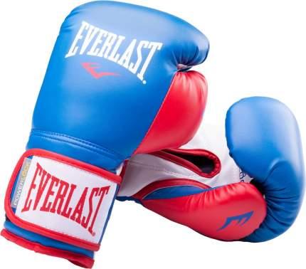 Перчатки боксерские Everlast Powerlock P00000727, 14oz, синий/красный