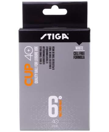 Мячи для настольного тенниса Stiga Cup ABS белые, 6 шт.