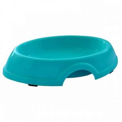 Одинарная миска для кошек и собак ZooExpress, пластик, голубой, 0,3 л