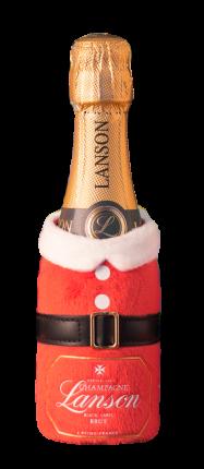 Шампанское Champagne Lanson Black Label Brut in pouch Santa Claus
