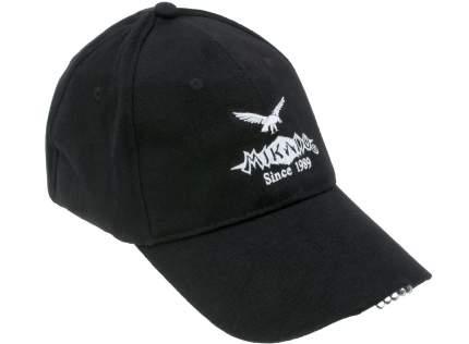 Бейсболка Mikado UM-ULED01-BK, черная, One Size
