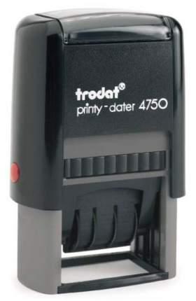 Датер Trodat Printy 4750 Рус со свободным полем под клише печати. Поле: 41х24 мм