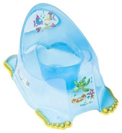 ТЕГА Детский горшок антискользящий AQUA (АКВА) прозрачный голубой AQ-007-115