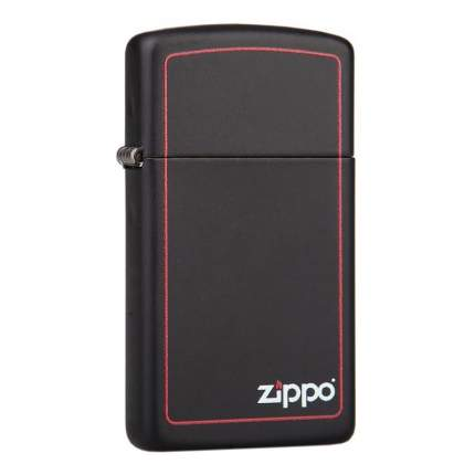 Бензиновая зажигалка Zippo Slim Border Black Matte