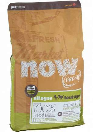 Сухой корм для собак и щенков NOW Fresh Small All Ages, индейка, утка, овощи, 5,45кг