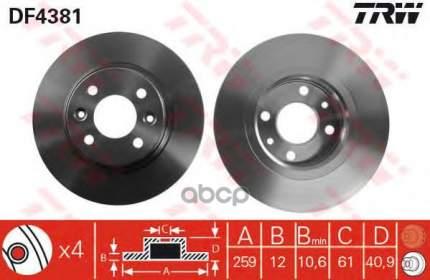 Тормозной диск TRW/Lucas для DF4381