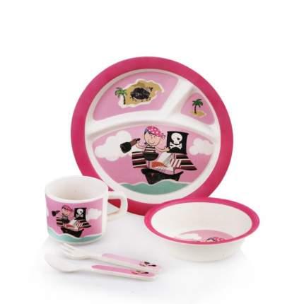 Набор посуды Eco Baby Пираты-Девочка