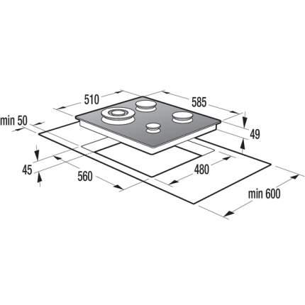 Встраиваемая варочная панель газовая Gorenje GTW6INI Beige