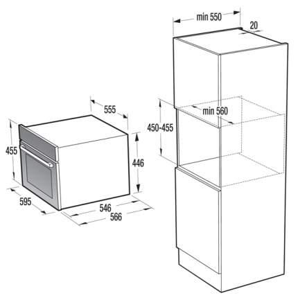 Встраиваемый электрический духовой шкаф Gorenje BO547ST Grey