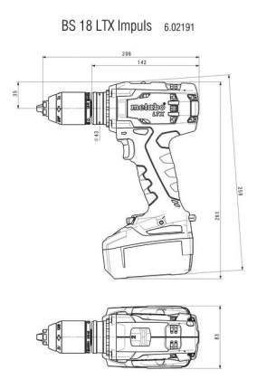 Аккумуляторная дрель-шуруповерт Metabo BS 18 LTX Impuls 602191650
