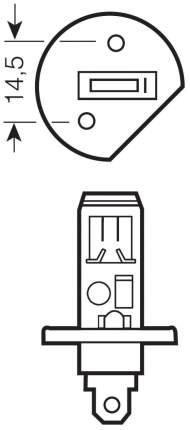Лампа галогенная автомобильная OSRAM Н1 55W 5000К (62150CBH+_DuoBox)