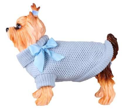 Свитер для собак DEZZIE размер M унисекс, голубой, длина спины 35 см