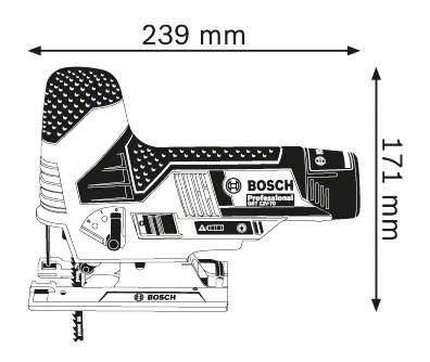 Аккумуляторный лобзик Bosch GST 10,8 V-Li 06015A1001 БЕЗ АККУМУЛЯТОРА И З/У