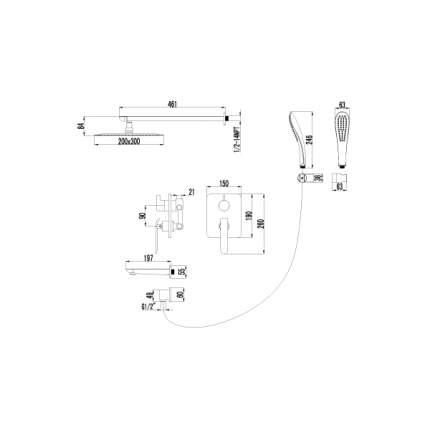 Смеситель для встраиваемой системы LEMARK Melange LM4922CW хром