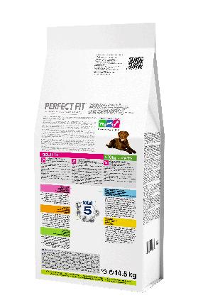 Сухой корм для собак Perfect Fit Adult, для средних и крупных пород, курица, 14.5кг