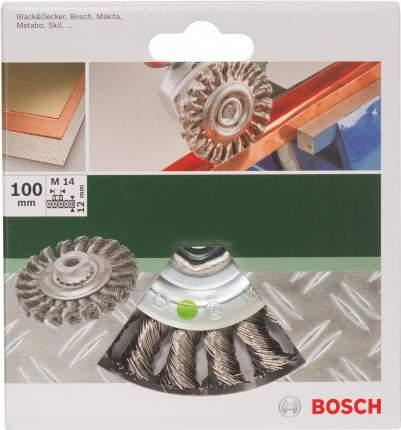 Дисковая кордщетка для угловых шлифмашин Bosch 100 мм M14 DIY 2609256509