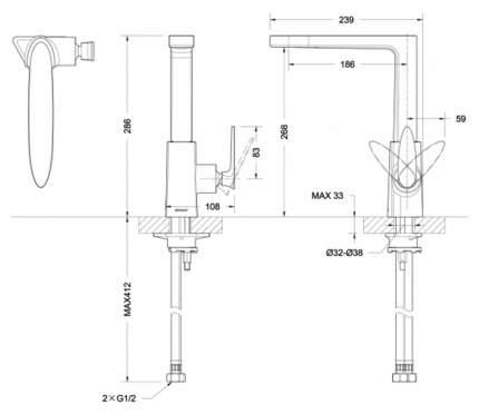 Смеситель для кухонной мойки BRAVAT Spring F779113C-1 хром