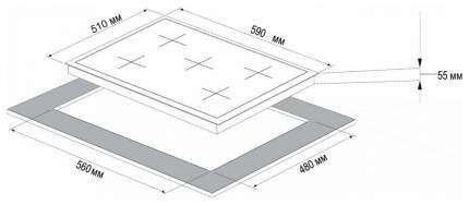 Встраиваемая варочная панель газовая Korting HG 697 CTW White