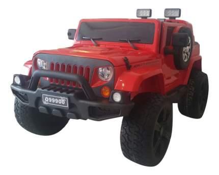Электромобиль Jeep Wrangler красный RIVERTOYS