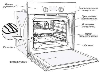 Встраиваемый газовый духовой шкаф GEFEST ДГЭ 621-01 Б White