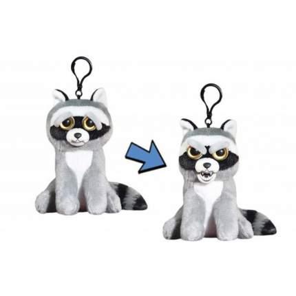 Мягкая игрушка ABtoys Енот серый Feisty pets 11 см с карабином