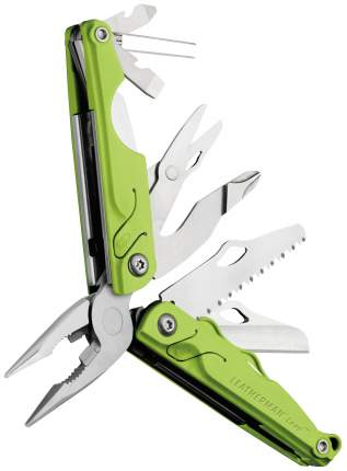 Мультитул Leatherman Leap Green 831836 130 мм зеленый, 12 функций