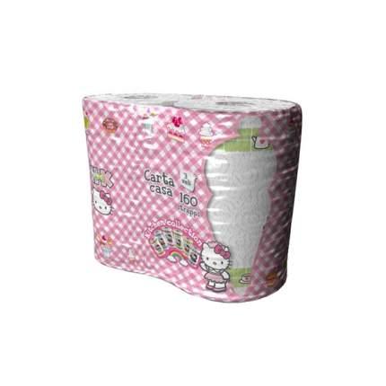 Полотенца бумажные World Cart hello kitty 3-х слойные с рисунком 2 штуки*80 листов