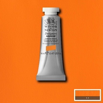 Гуашь Winsor&Newton Designers Gouache оранжевый кадмий 14 мл