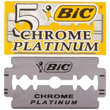 Острые двусторонние лезвия BIC CHROME PLATINUM для бритвенных станков