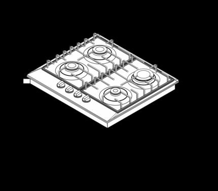 Встраиваемая газовая панель Schaub Lorenz  SLK GY6525