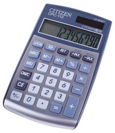 Калькулятор Citizen CPC-112WB, 12 разрядов, двойное питание, 120х72 мм