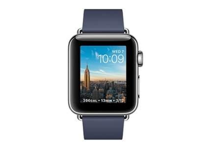 Смарт-часы Apple Watch Series 2 38mm Stainless Steel/Dark Blue M (MNP92RU/A)