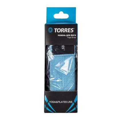 Ремень для йоги Torres YL9006, голубой