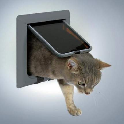 Дверца для кошек Trixie 4-Way Cat Flap, размер 21х21см,, серый