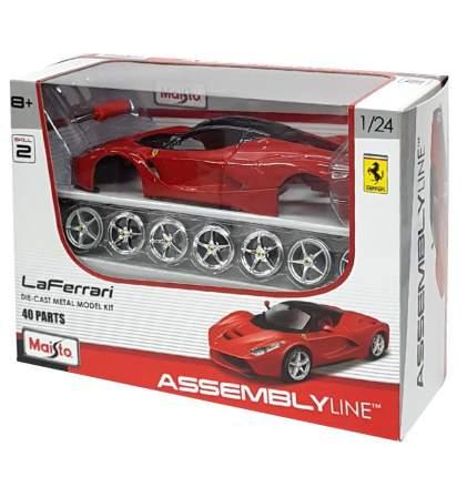 Машинка Maisto сборная, красная - Ferrari LaFerrari 1:24