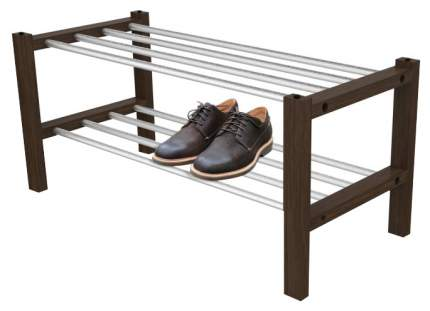 Стеллаж для обуви Sheffilton Альберо SHT-SR9 Алюминий/Венге