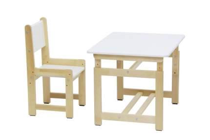 Комплект растущей детской мебели Polini Eco 400 SM белый-натуральный