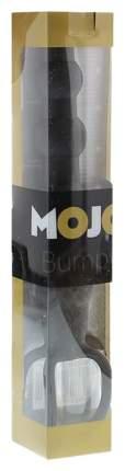 Черная ёлочка-насадка для двойного проникновения Mojo Bumpy 15 см