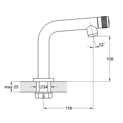 Кран для воды Solone SOL15-A630