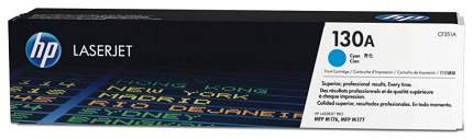 Картридж для лазерного принтера HP 130ALaserJet, синий CF351A