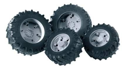 Шины Bruder для сдвоенных колёс с серыми дисками 4 шт. 12,5 см