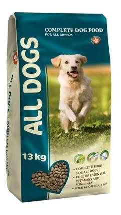 Сухой корм для собак ALL DOGS Fol All Breeds, злаки, мясо, овощи, рыба, 13кг