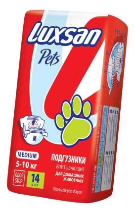Подгузники для домашних животных LUXSAN размер M на вес 5-10кг