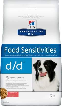 Сухой корм для собак Hill's Prescription Diet d/d Food Sensitivities, лосось, 12кг