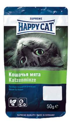 Лакомство для кошек Happy Cat Кошачья мята, подушечки, 50г