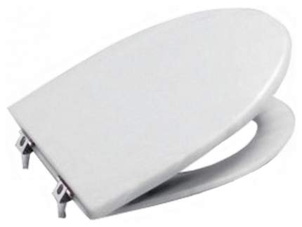 Сиденье с крышкой для унитаза Jika Vega петли хром.дюропласт 8.9153.4.300.063.1, белый